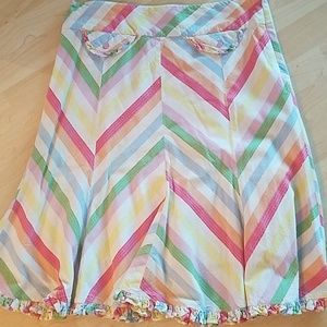 Odille by Anthropologie Rainbow A-line Skirt
